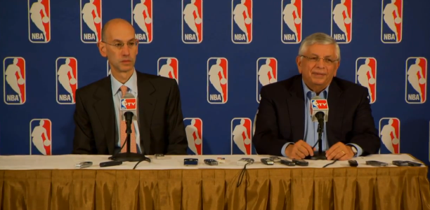 David Stern Adam Silver British Basketball Funding Cut