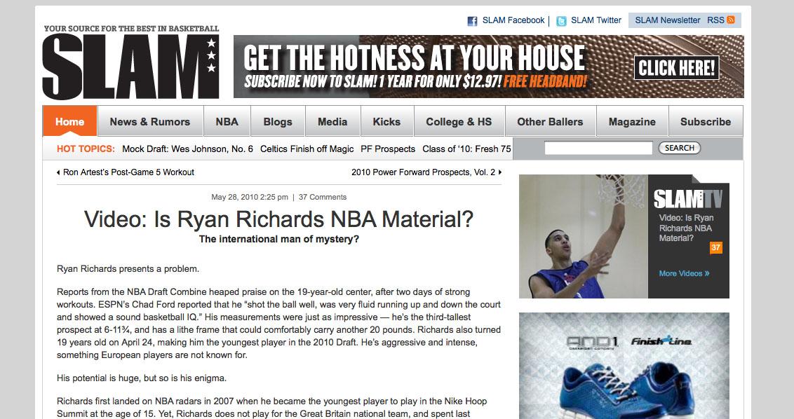 Ryan Richards SLAM