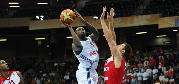 Luol Deng GB vs Poland Eurobasket 2011