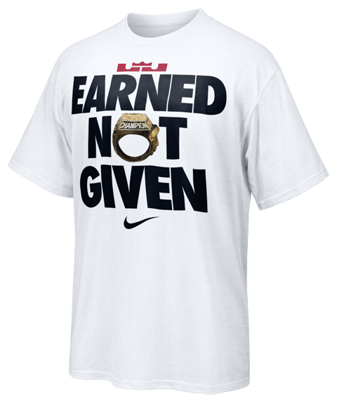 LeBron James Earned Not Given T-Shirt White