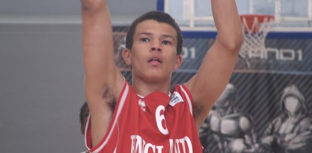 Luke Nelson England U18s Basketball