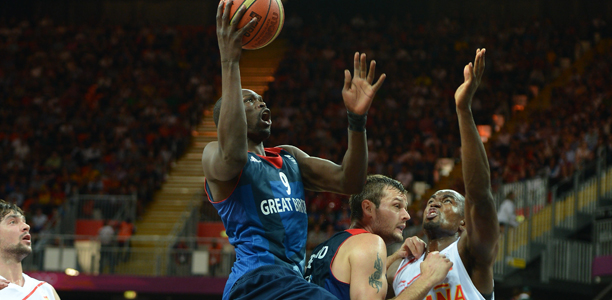 Luol Deng GB vs Spain Olympics