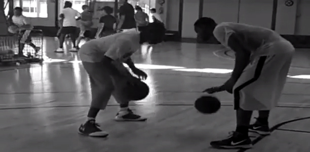 Tyreke Evans Working on His Ball Handling With Pat The Roc