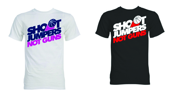 Shoot Jumpers Not Guns T-Shirts Dime Magazine