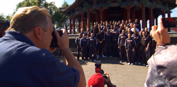 Heat & Clippers Visit Great Wall of China