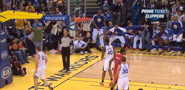 Blake Griffin Airballs Three – Warriors Bench Goes Crazy…AGAIN!