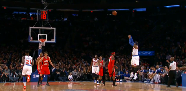 Carmelo Anthony Franchise Record Nine Three Pointers