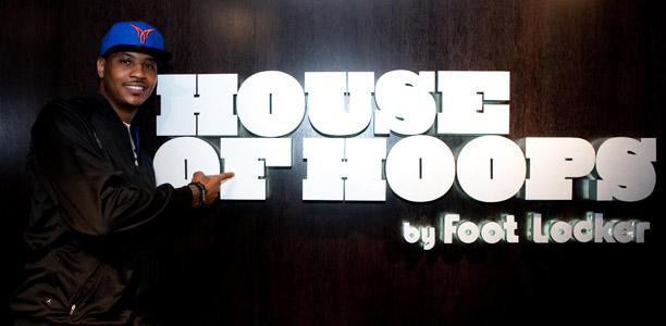 Carmelo Anthony House of Hoops Foot Locker Oxford Street