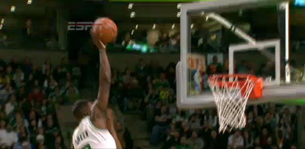 Jeff Green dunk on Chris Bosh