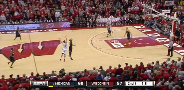 Ben Brust Buzzer Beater Michigan Wisconsin