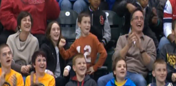 Dancing Kid at Pacers Game