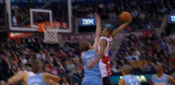 DeMar DeRozan Dunks on Mozgov