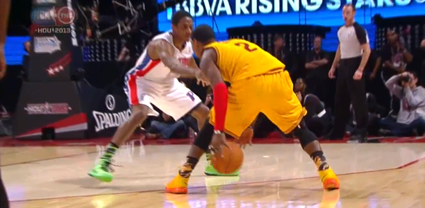 Kyrie Irving crossover on Brandon Knight
