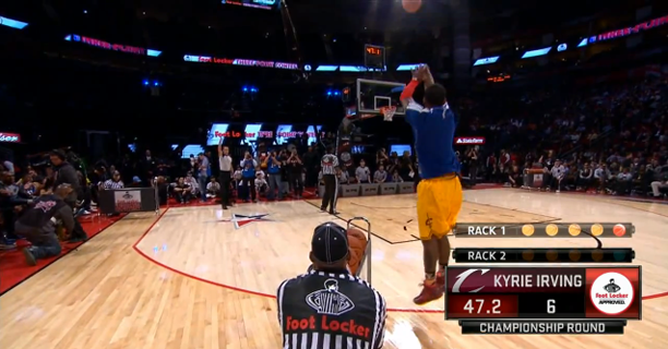 best loved 77d02 84ccb Kyrie Irving Wins the 3 Point Shootout - Final Round He Was ...