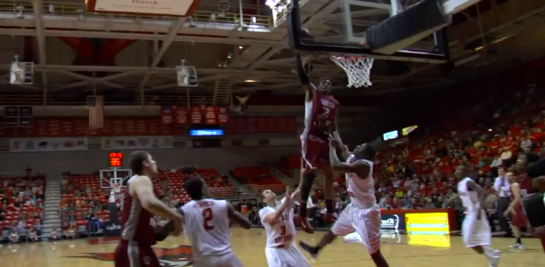 Marcus Lewis Dunk Inbounds Alley Oop