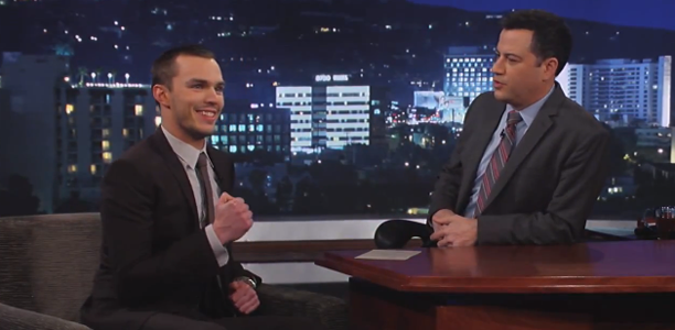 Nicholas Hoult Reps the Reading Rockets on Jimmy Kimmel Live!