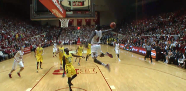 Victor Oladipo CRAZY Missed Dunk vs Michigan!