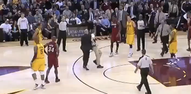 Crazy LeBron Fan Runs on Court During Heat – Cavs Game!