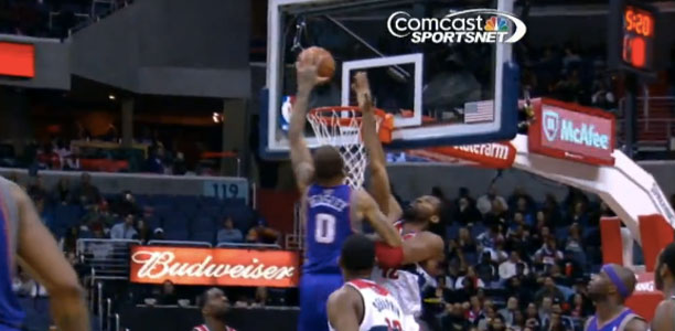 Michael Beasley Posterizes Nene Off the Spin Move!