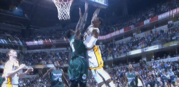 Paul George Dunks on Larry Sanders!