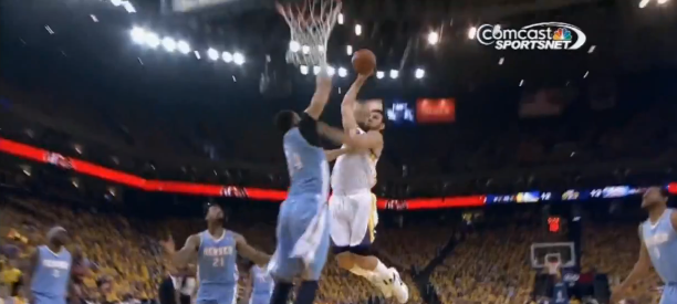 Andrew Bogut Dunk on JaVale McGee