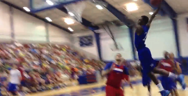 Andrew Wiggins Wastes No Time Impressing KU Fans! HUGE Dunk!
