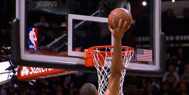 Tim Duncan Dunk on Mario Chalmers