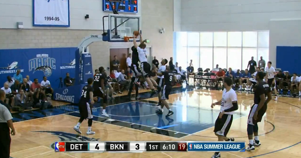 Mason Plumlee Dunks NBA Summer League