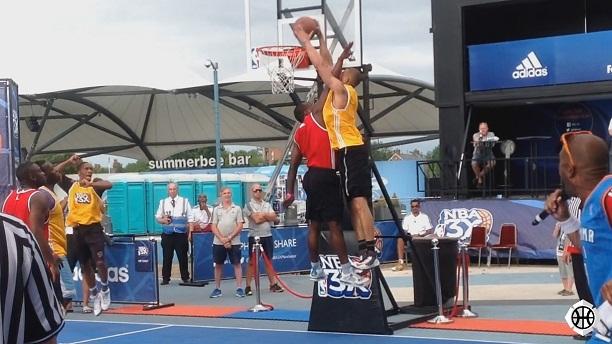 Nathan Schall poster dunk at NBA 3X Manchester
