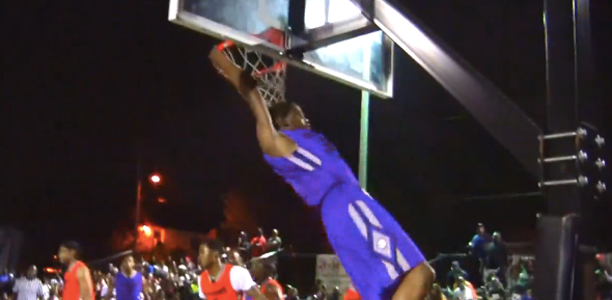 Kevin Durant Throws Down Two Big Dunks at The Goodman League!