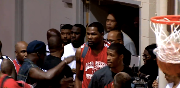6581c837b Kevin Durant returned to Seattle for the first time this weekend to play in  the Jamal Crawford Pro Am and put on an absolute show against Jamal  Crawford and ...