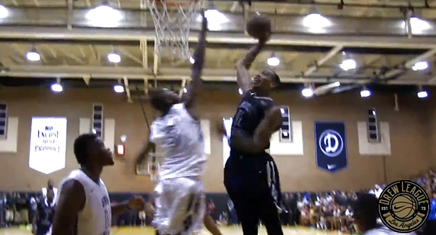 Malcolm Thomas Dunks on Dorell Wright at The Drew League!