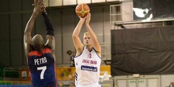 Dan Clark GB vs France Eurobasket