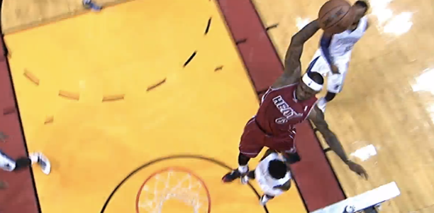 LeBron James poster on Ben McLemore