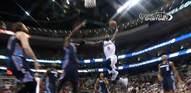 Tony Wroten dunks on Michael Kidd Gilchrist
