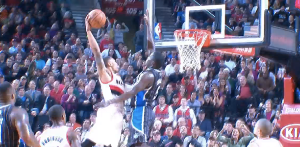 Post image for Victor Oladipo Ridiculous Block on Damian Lillard's Dunk Attempt!