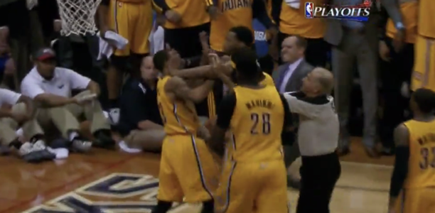 Post image for Mike Scott & George Hill Get Into it!