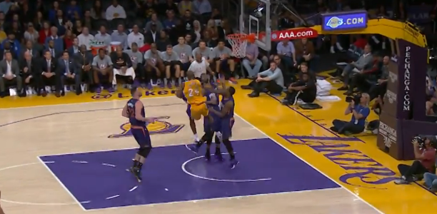 Kobe Bryant Circus Shot Lakers