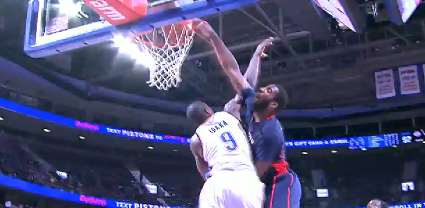 Andre Drummond Dunks on Ibaka