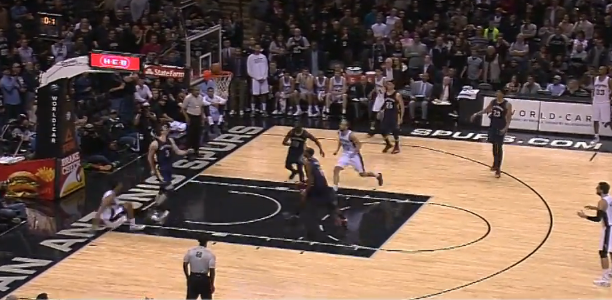 San Antonio Inbounds Alley-oop