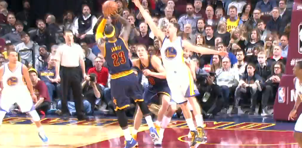 LeBron James 42 v Golden State