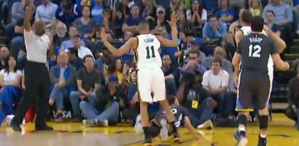 Steph Curry Circus Shot