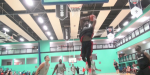 Matthew Bryan-Amaning Goes Self Oop Off the Glass at FamFest 2015!