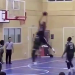 Josh Ward-Hibbert Skies for the Inbounds Lob!