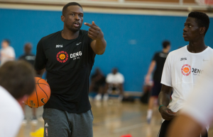 Luol Deng at DENG Camp