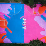 UK's First Art Basketball Court Completed in Brighton