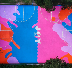 Art Basketball Court in Brighton