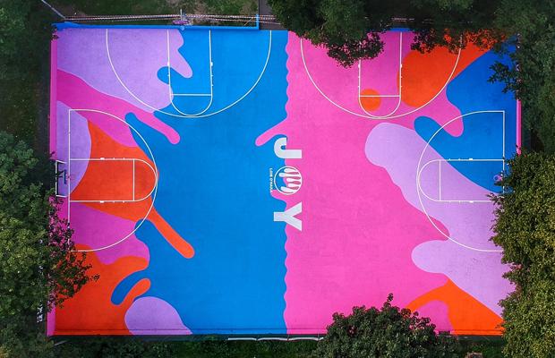 Art Basketball Court in Brighton