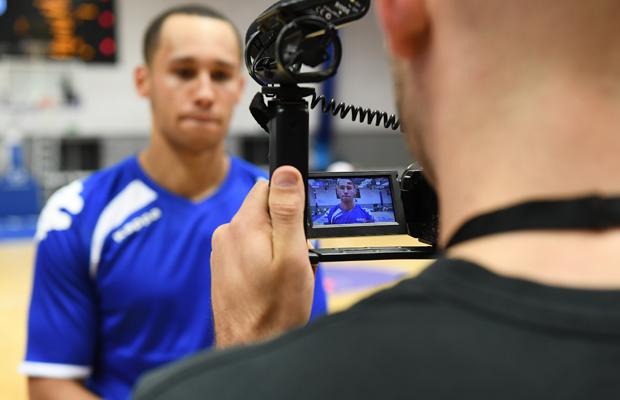 Filming British basketball