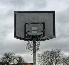 Basketball hoop in England